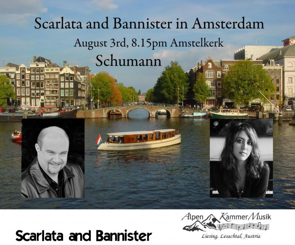Amsterdam concert Scarlata and Bannister AKM
